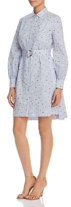 Kate Spade Striped Lip-Print Shirt Dress