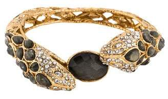 Alexis Bittar Pyrite Doublet & Crystal Dual Snake Bangle