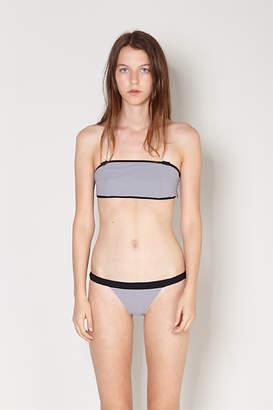 Rhone Reversible Bikini Bottom - Grey / White