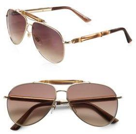 Gucci Bamboo Aviator Sunglasses