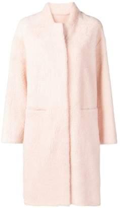 Liska single breasted lambskin coat