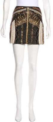 Club Monaco Embellished Mini Skirt