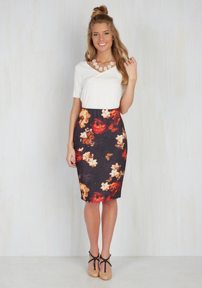 Smashed Lemon Inaugural Artist Talk Pencil Skirt $44.99 thestylecure.com