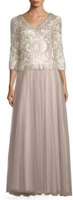 Tadashi Shoji Sequin Embellished Floor-Length Gown