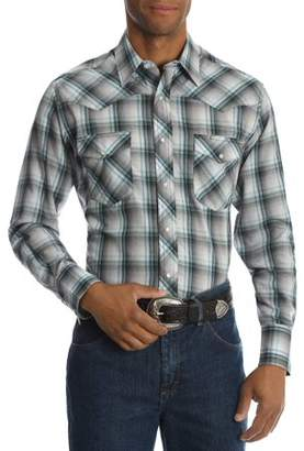 Plains Men's Long Sleeve Plaid Western Shirt