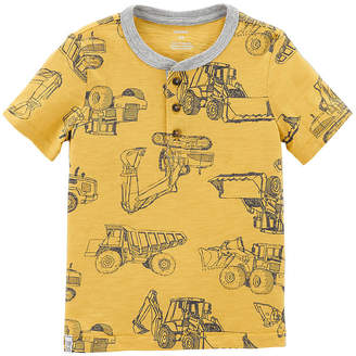 Carter's Short Sleeve Henley Neck T-Shirt-Toddler Boys