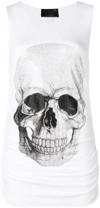 Philipp Plein Strass Skull tank top