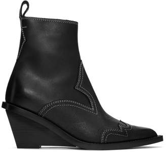 MM6 MAISON MARGIELA Black Cowboy Ankle Boots