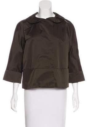 DKNY Cropped Satin Jacket