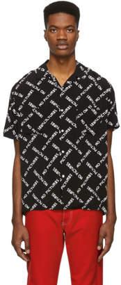 Nasaseasons Black No Pictures Bowling Shirt
