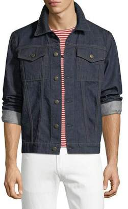 Helmut Lang Men's Striped-Back Denim Jacket