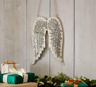 Pottery Barn Galvanized Angel Wings