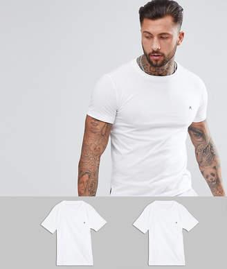 Replay 2 Pack Logo T-Shirts White