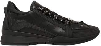 DSQUARED2 Two Tone Leather & Nylon Sneakers