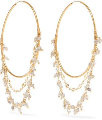 Chan Luu Mystic Gold-tone Crystal Hoop Earrings