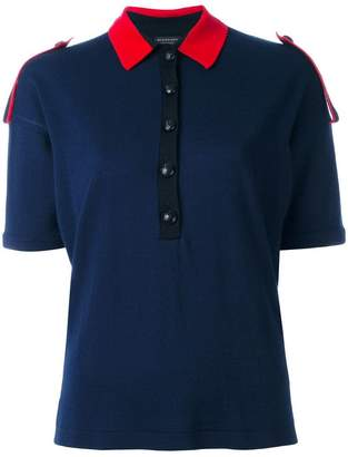 Burberry colour block knitted polo