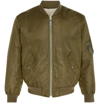 Yves Salomon Paris Tech Shearling Bomber Jacket