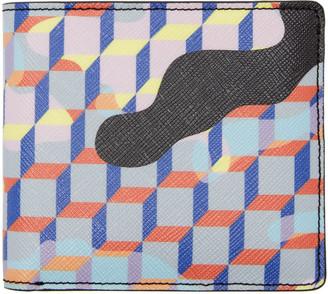 Pierre Hardy Multicolor Camocube Wallet $265 thestylecure.com