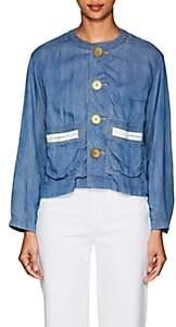 Comme des Garcons Women's Chambray Button-Front Jacket - Blue