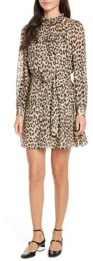 Women's Kate Spade New York Leopard Clip Dot Minidress