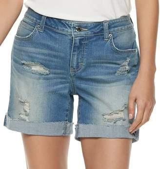 JLO by Jennifer Lopez Women's Boyfriend Denim Shorts
