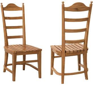 One Kings Lane Set of 2 Tuscan Teak Side Chairs - Natural