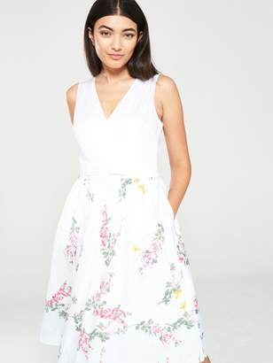 Ted Baker Reyyne Full Skirted Sleeveless Dress - White