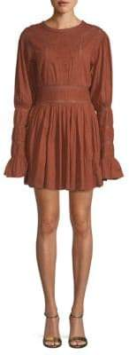 Free People Embroidered Cotton Mini Dress