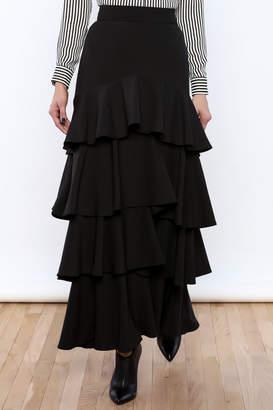 Lucy Paris Ruffle Dream Maxi Skirt