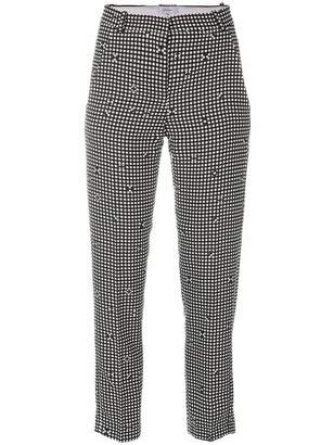 Carven checked tapered trousers