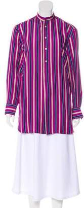 Ralph Lauren Black Label Striped Silk Blouse w/ Tags