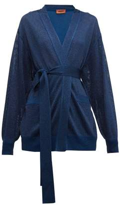 Missoni Belted Metallic Cardigan - Womens - Navy