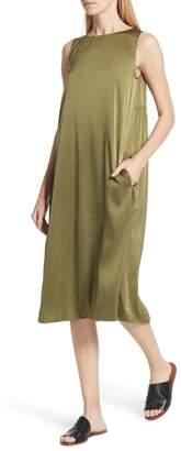 Eileen Fisher Stretch Silk Tank Dress