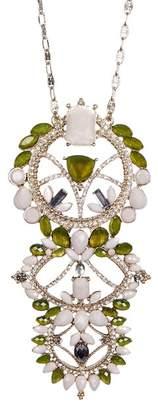 Jenny Packham Crystal Pendant Necklace
