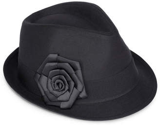 Scala Poplin Fedora with Grosgrain Ribbon