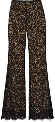 Michael Kors Collection - Corded Cotton-blend Lace Flared Pants - Black $1,995 thestylecure.com