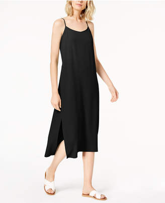 Eileen Fisher Tencel Crepe Side-Slit Slip Dress, Regular & Petite