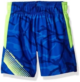 Under Armour Big Boys' Printed Volley Swim Shorts, Ultra Blue, L