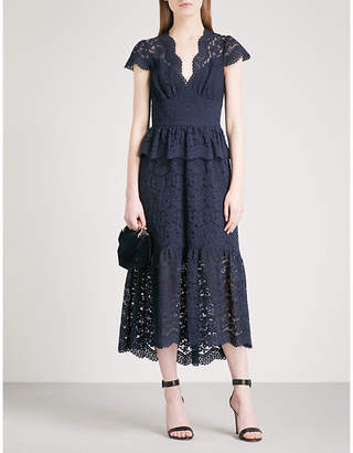 Temperley London Lunar fit-and-flare lace midi dress