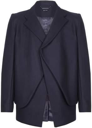 Blend of America He & DeFeber - Dark Navy Layered Front Virgin Wool Blazer