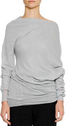 Jil Sander Long-Sleeve Twisted Alpaca-Blend Tunic