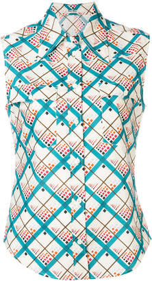 Miu Miu patterned sleeveless shirt