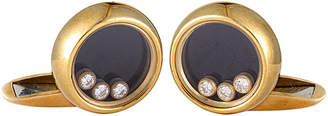 Chopard Heritage  18K 0.30 Ct. Tw. Diamond & Onyx Cufflinks