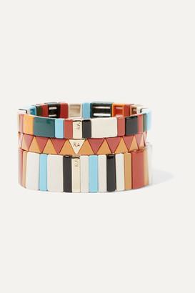 Roxanne Assoulin Canyon Set Of Three Enamel Bracelets