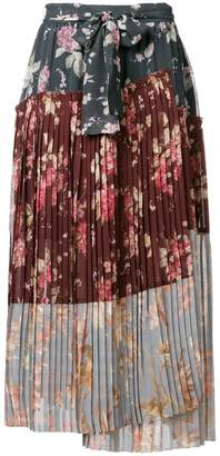 Zimmermann floral print pleated skirt