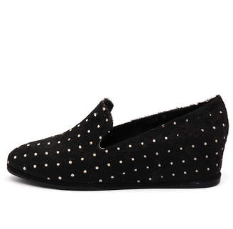 Gamins Poise Black & white Shoes Womens Shoes Casual Flat Shoes