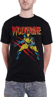 Wolverine T Shirt Scratches new Official Marvel Comics Mens