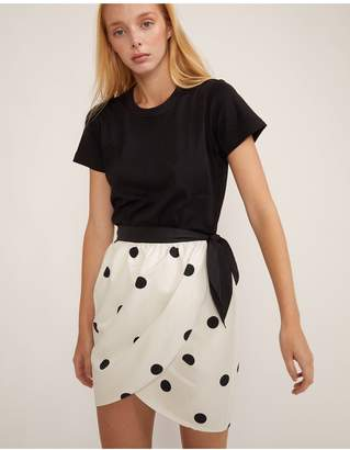 Cynthia Rowley Emery Polka Dot Wrap Skirt