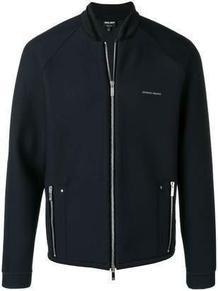 Giorgio Armani mesh bomber jacket