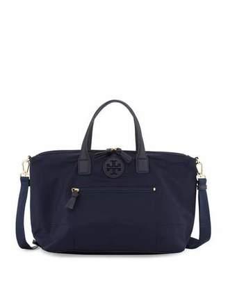 Tory Burch Ella Packable Nylon Satchel Bag, Tory Navy $250 thestylecure.com